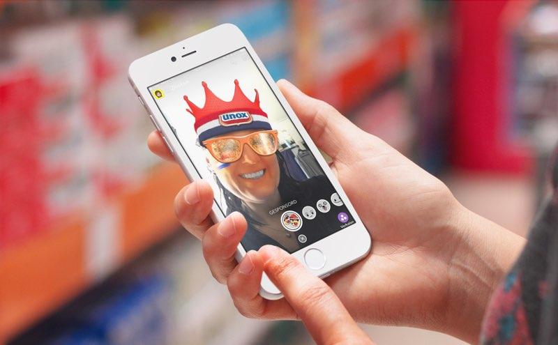 Unox Snapchat Filter