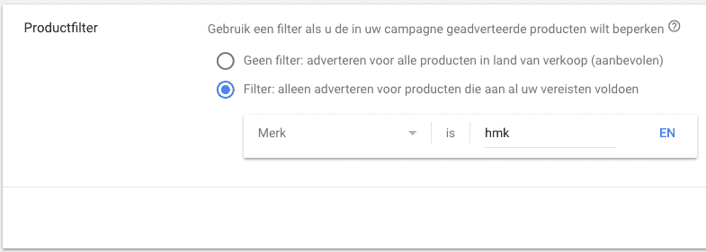 Shopping Productfilter