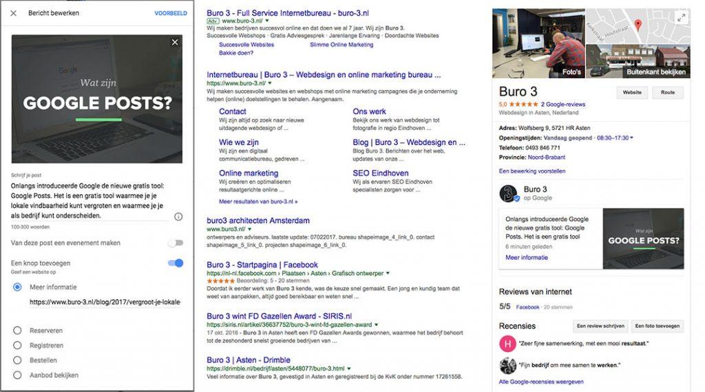 Google Post voorbeeld