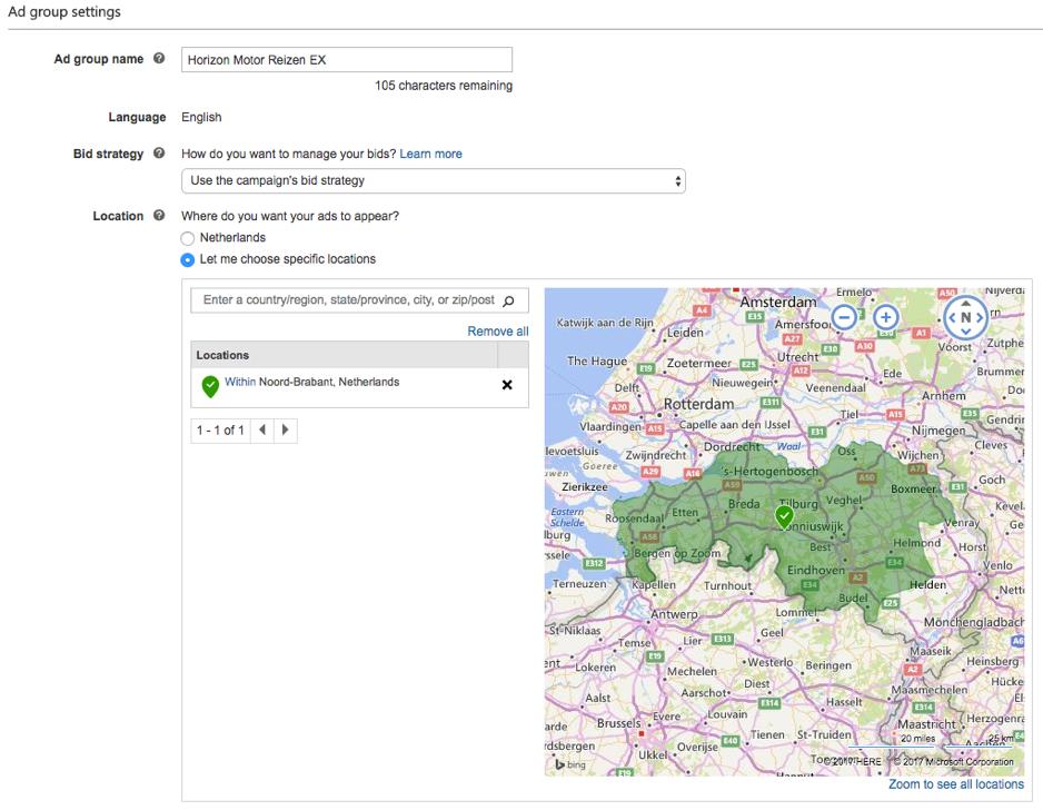 Bing Ads Targetting