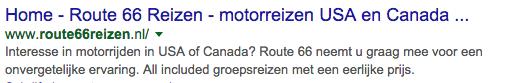 Zoekresultaten Google Route 66 reizen