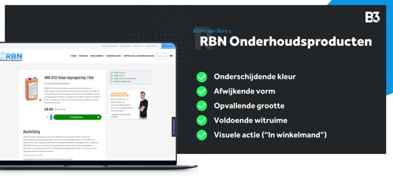 Webshopdesign door Buro 3 uit Eindhoven