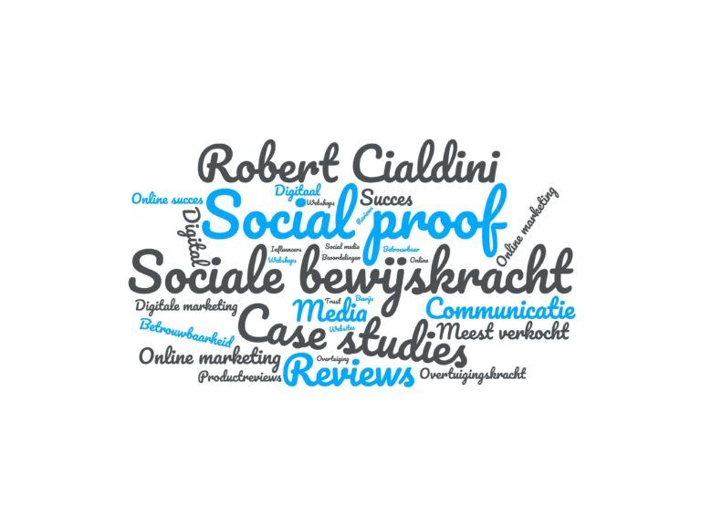 social proof wordcloud met woorden betrekking tot social proof