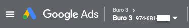 Voorbeeld Google Ads ID