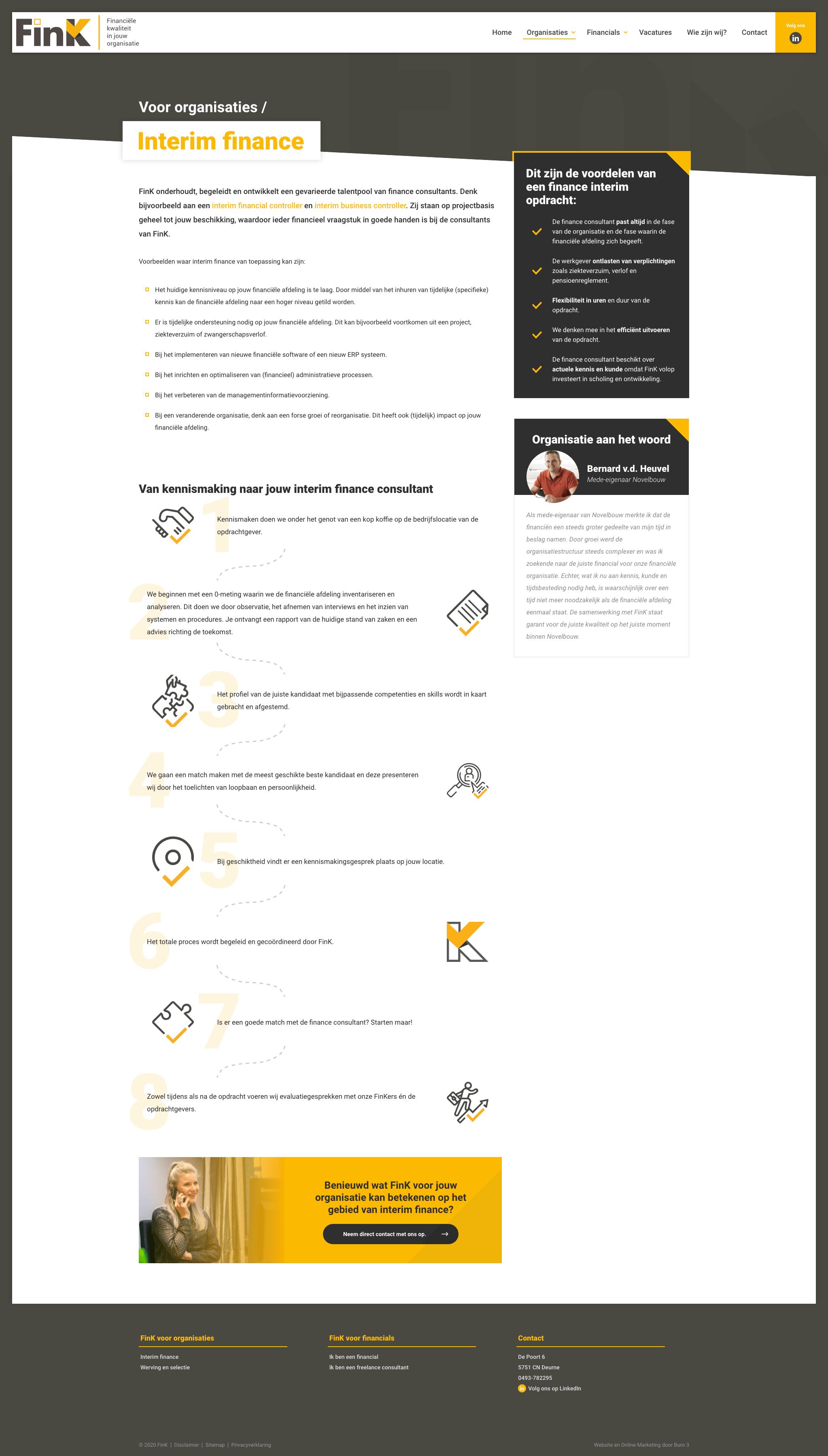 De 'Interim Finance' pagina over financiële kwaliteit op de nieuwe FinK website.