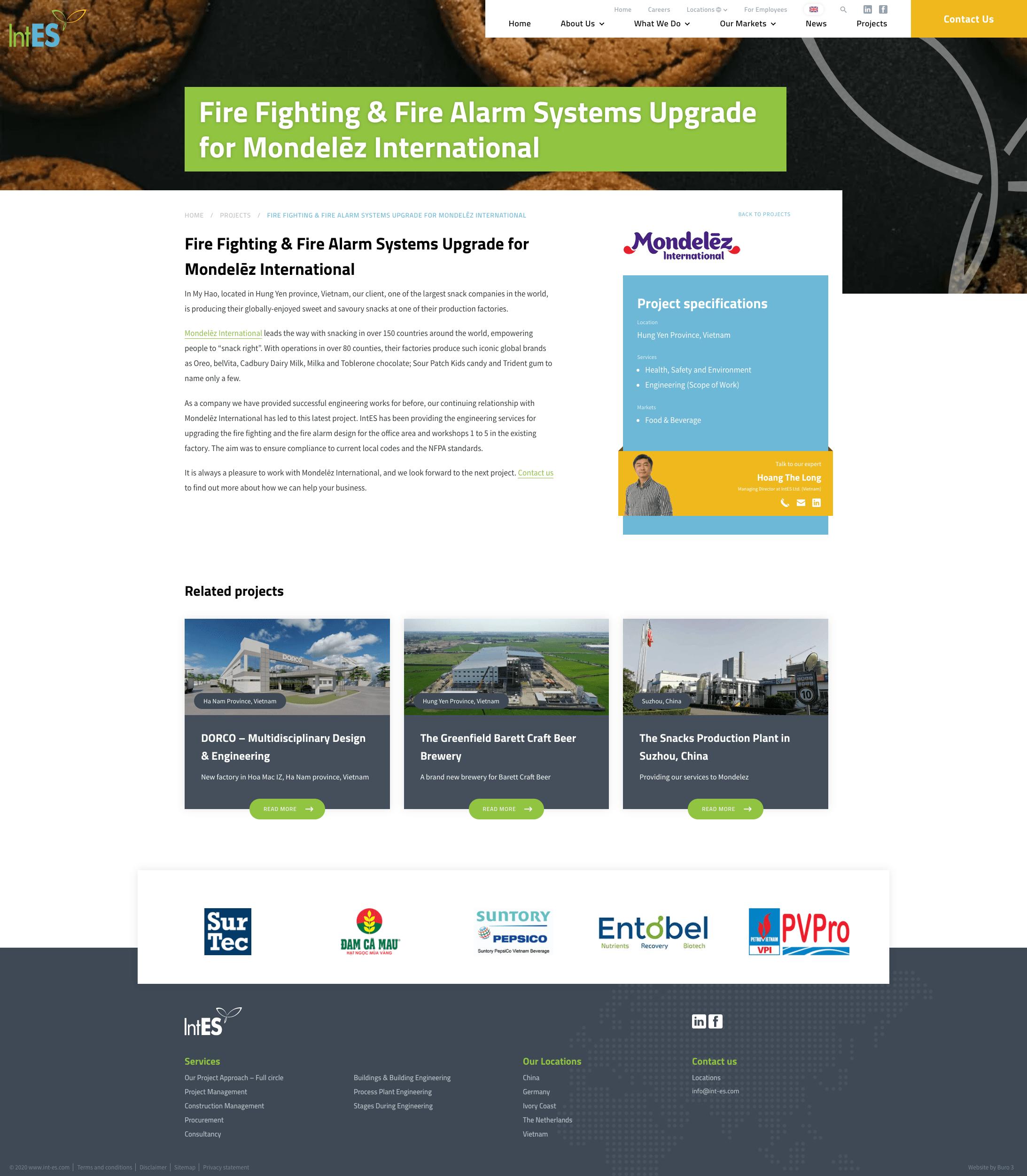 Een project op de nieuwe website van IntES